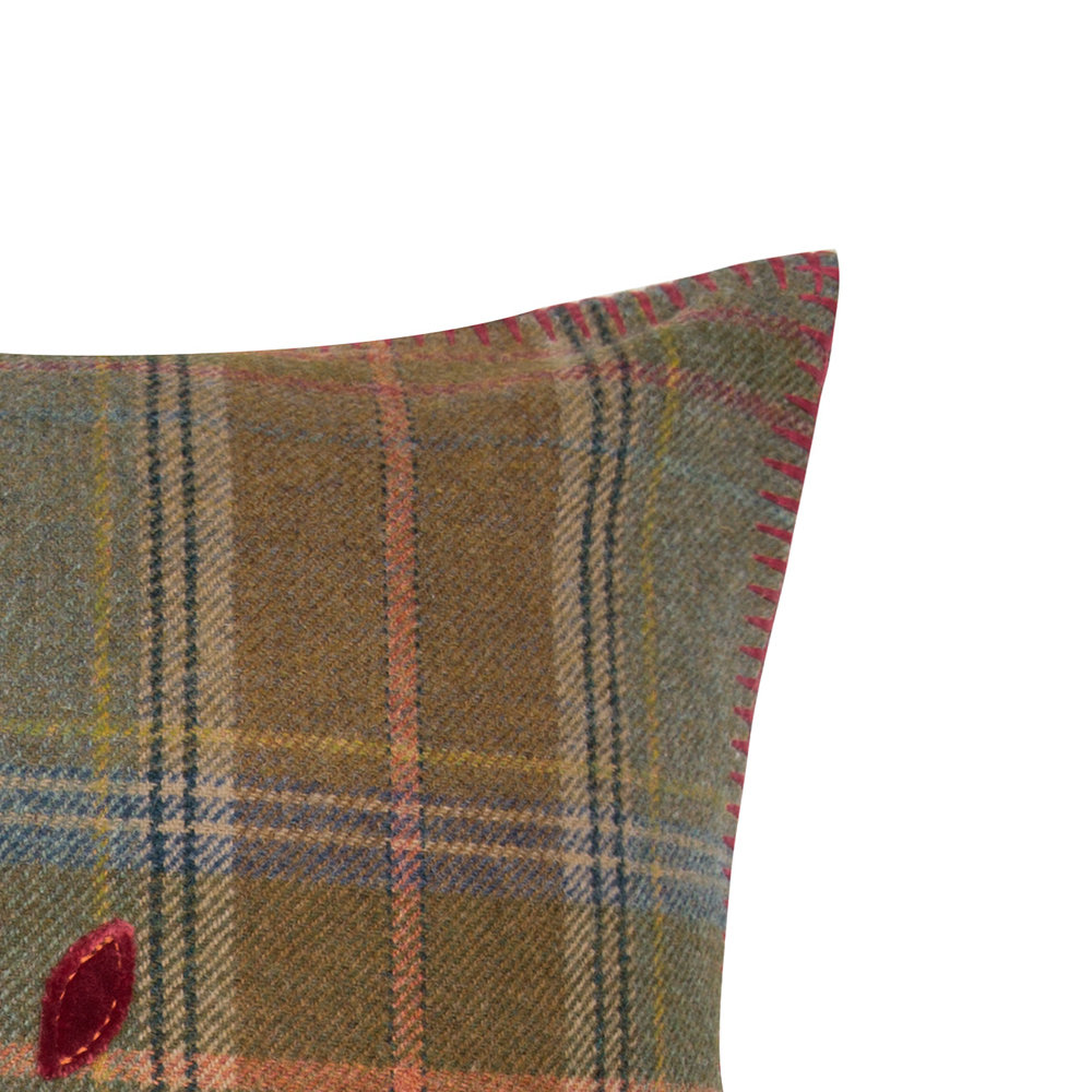 Mulberry Home - Mulberry Tree Plaid Cushion - 50x50cm - Red