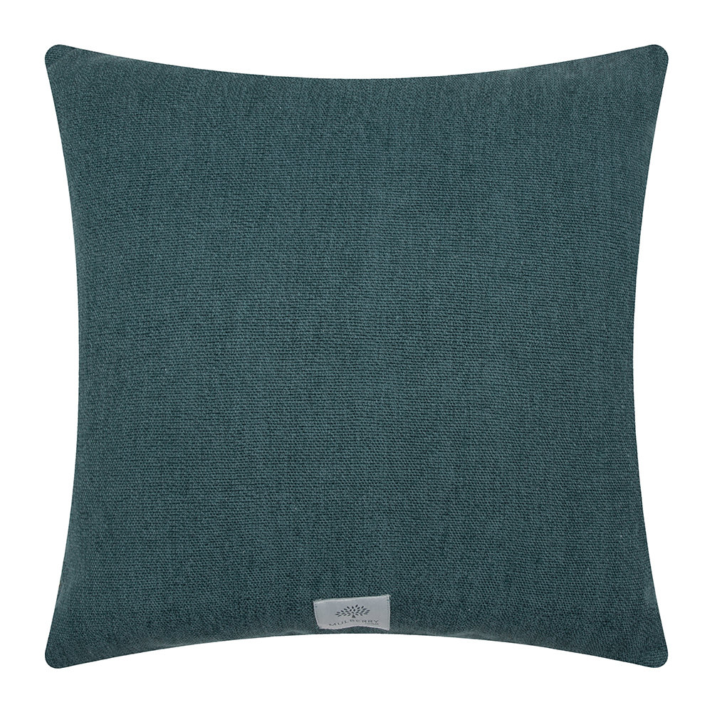 Mulberry Home - Mulberry Tree Plaid Pillow - 50x50cm - Teal