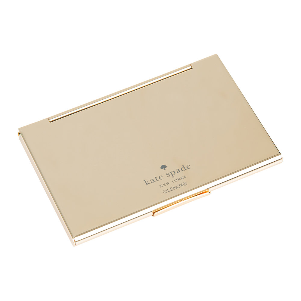 kate spade new york - One in a Million Initial Business Card Holder - E (Cream)
