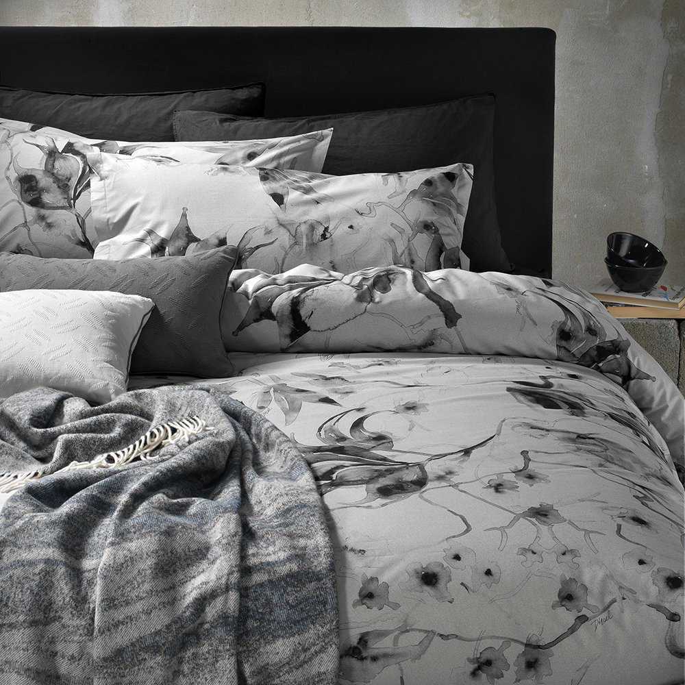 Diesel Living Diesel Living – Hanami Bed Set – Grey – Double