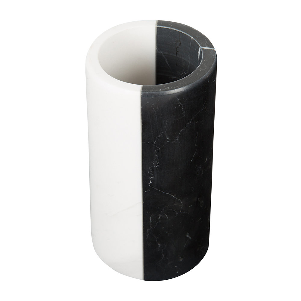 Jonathan Adler - Canaan Toothbrush Holder - Black/White Marble