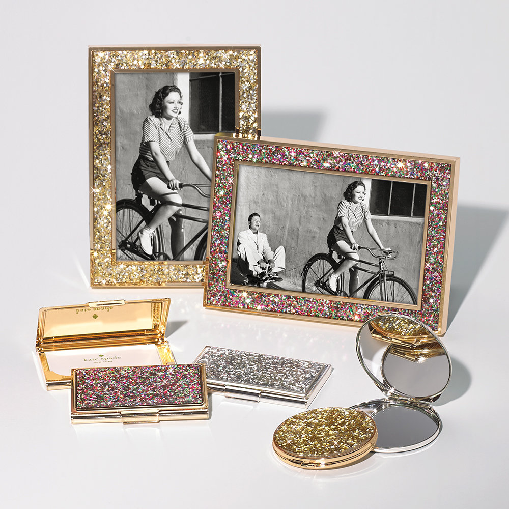 kate spade new york - Simply Sparkling Compact Mirror - Gold