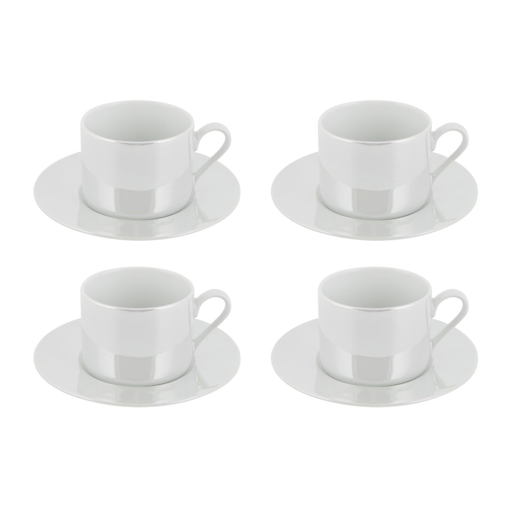 LSA International - Pearl Cup & Saucer - Set of 4