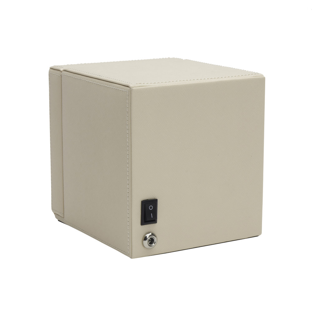 Cub Watch Winder With Cover Cream
