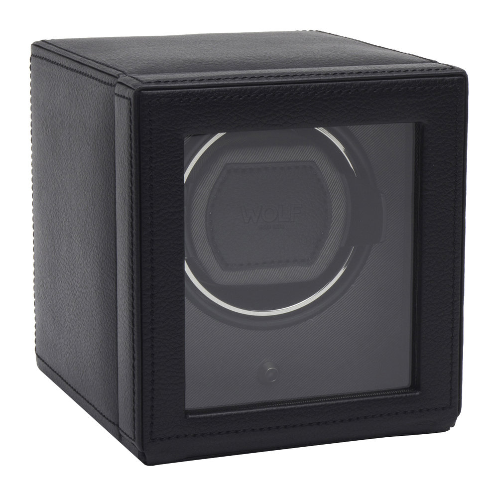 Wolf - Cub Watch Winder with Cover - Black