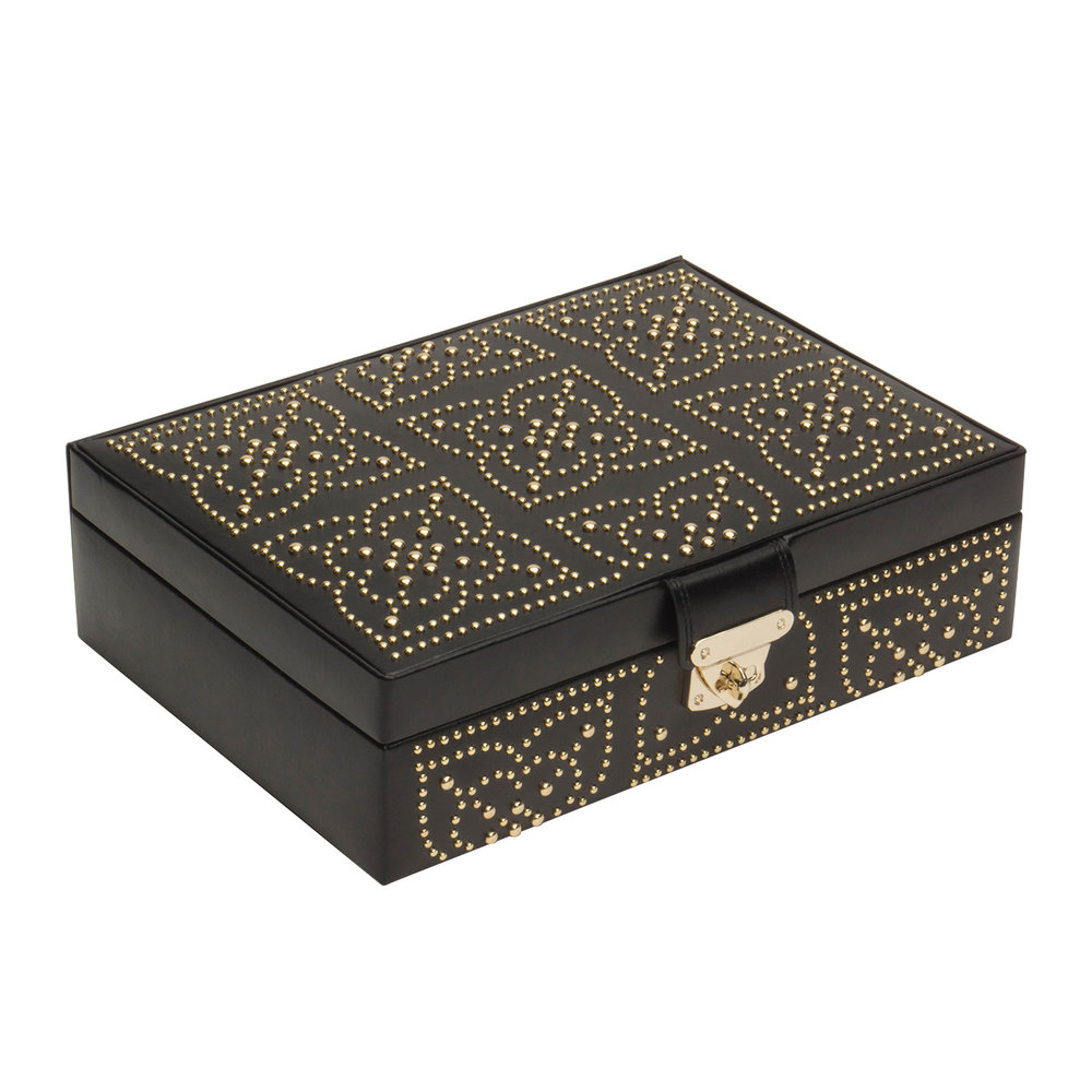 Wolf Wolf – Marrakesh Flat Jewellery Box – Black