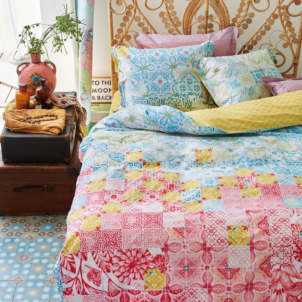 Pip Studio  Mixed Up Tiles Duvet Cover  Double