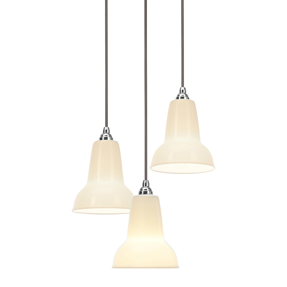 Original 1227 Mini Ceramic Cer Pendant Light Pure White