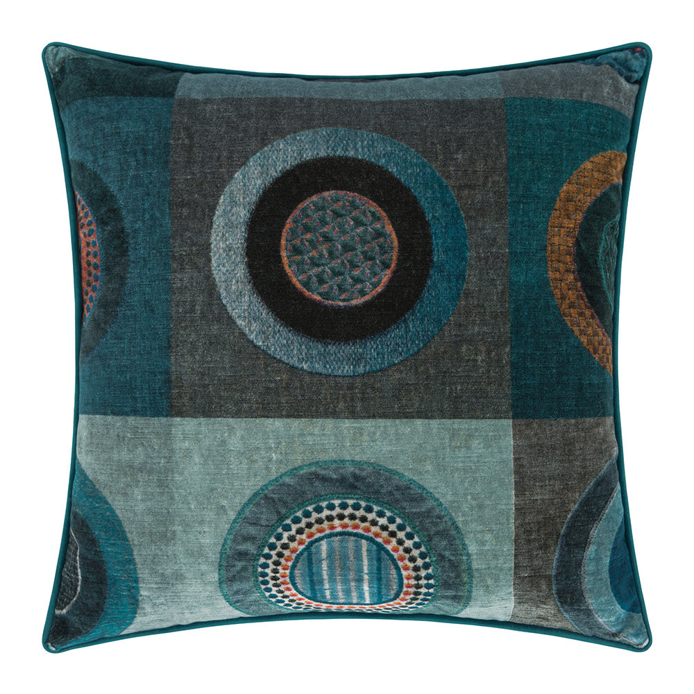 Mulberry Home - Dress Circle Velvet Cushion - 45x45cm