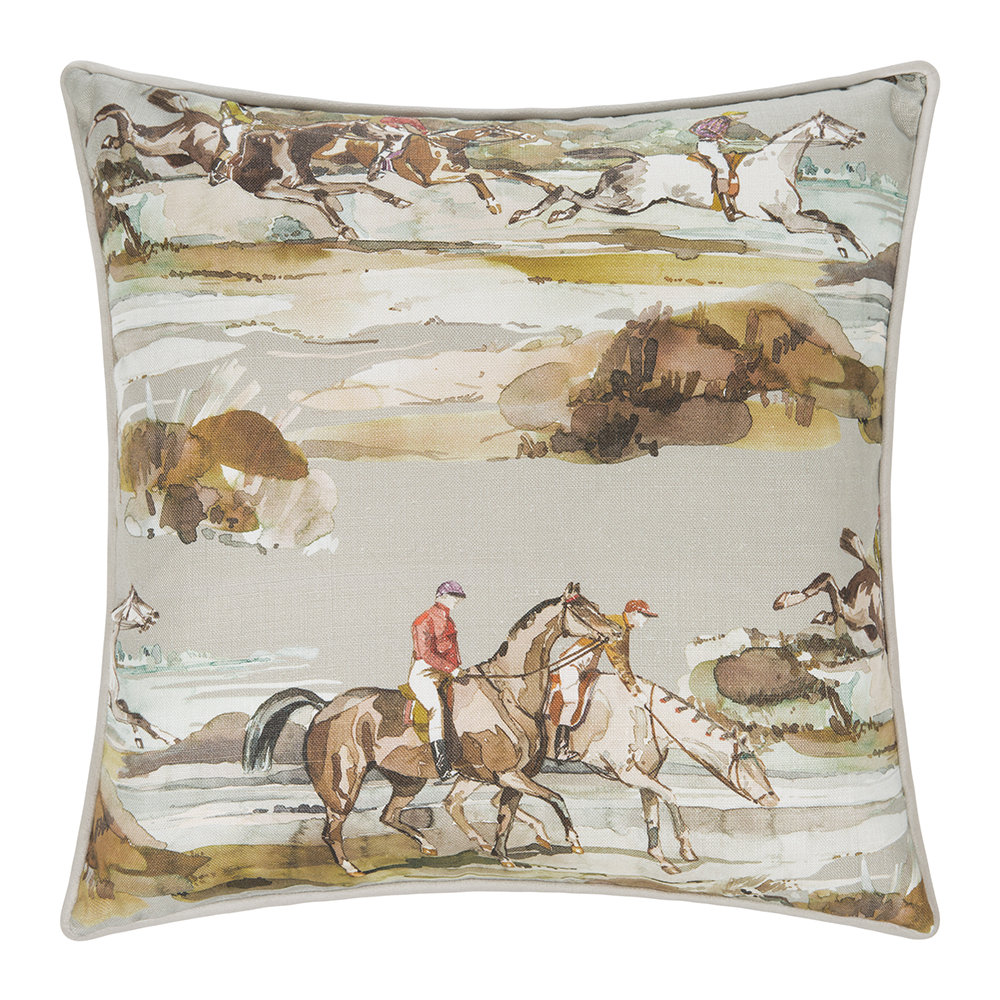 Mulberry Home - Morning Gallop Linen Cushion - 45x45cm