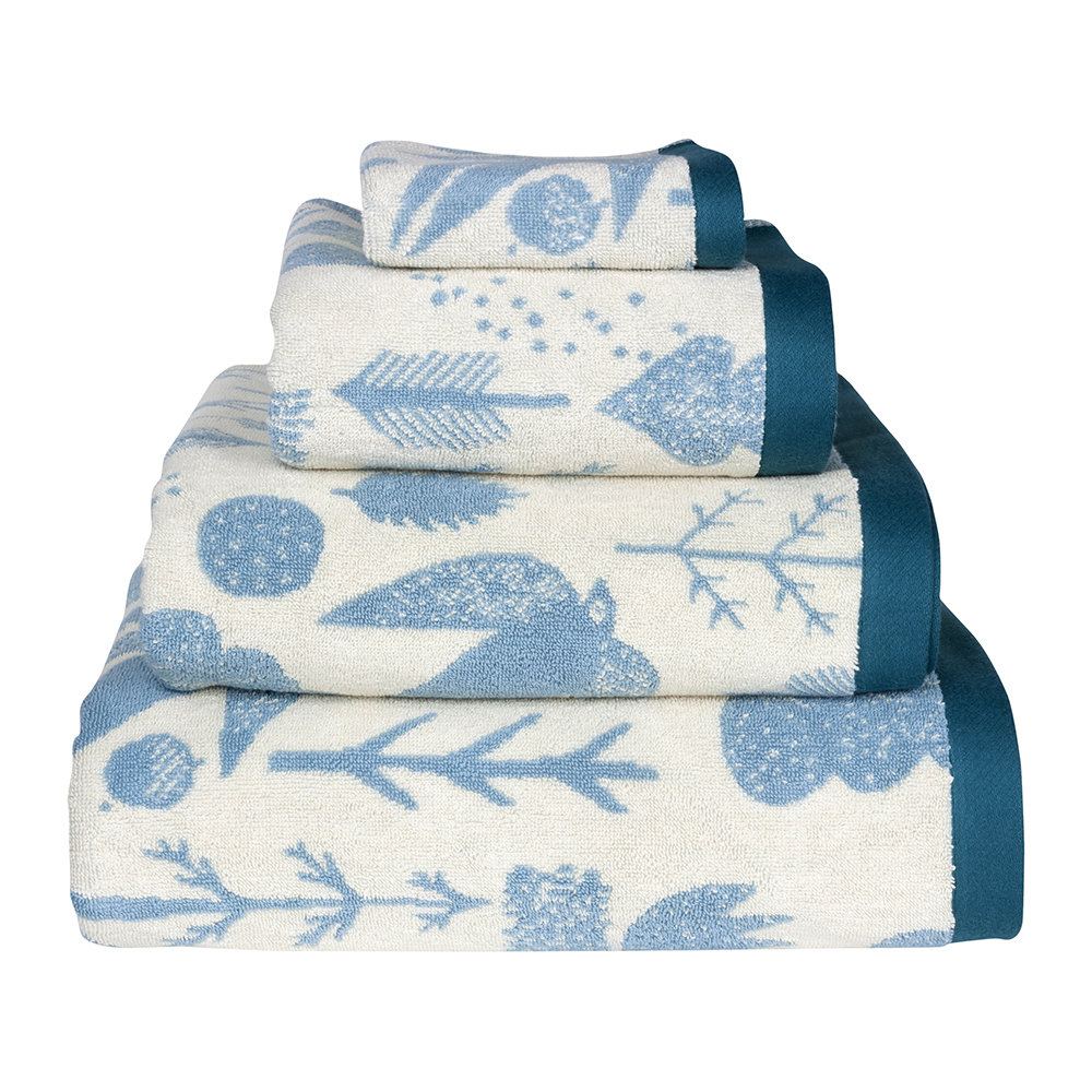 Donna Wilson - Bird and Tree Towel - Cream - Bath Sheet