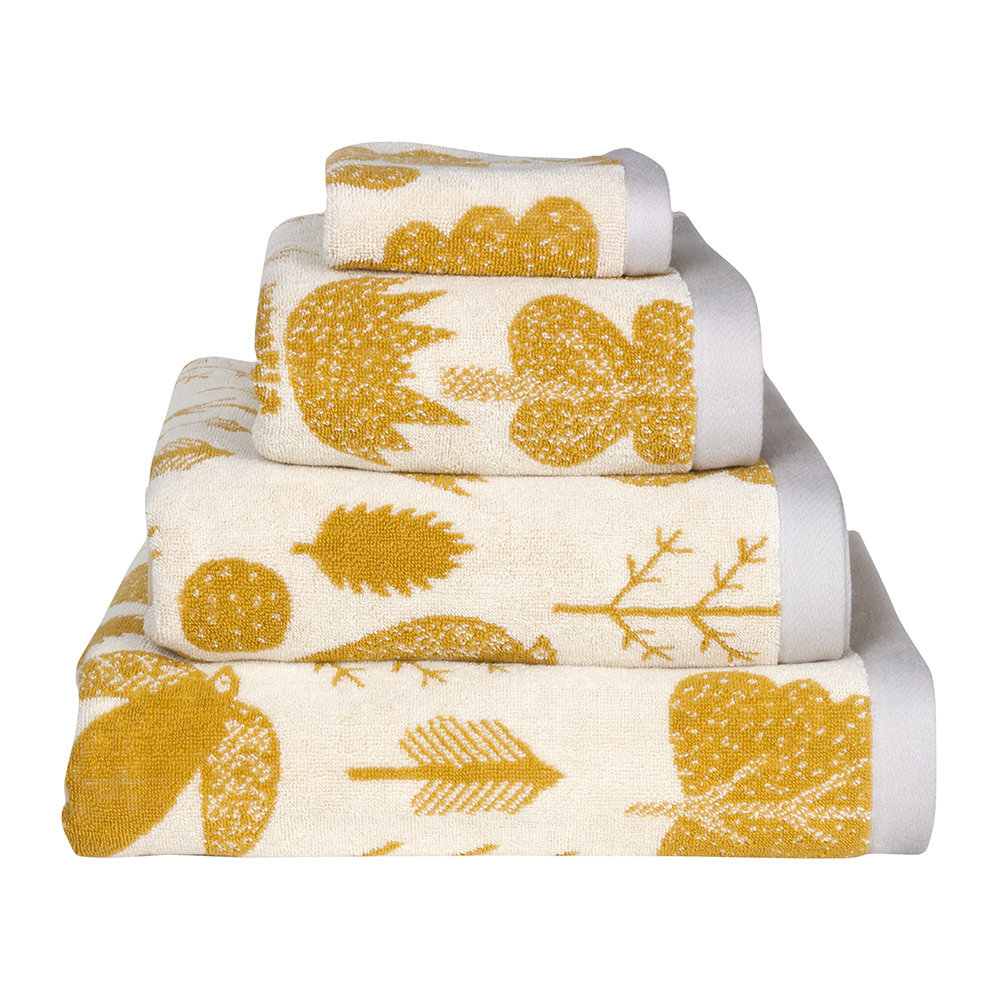 Donna Wilson - Bird and Tree Towel - Mustard - Bath Towel
