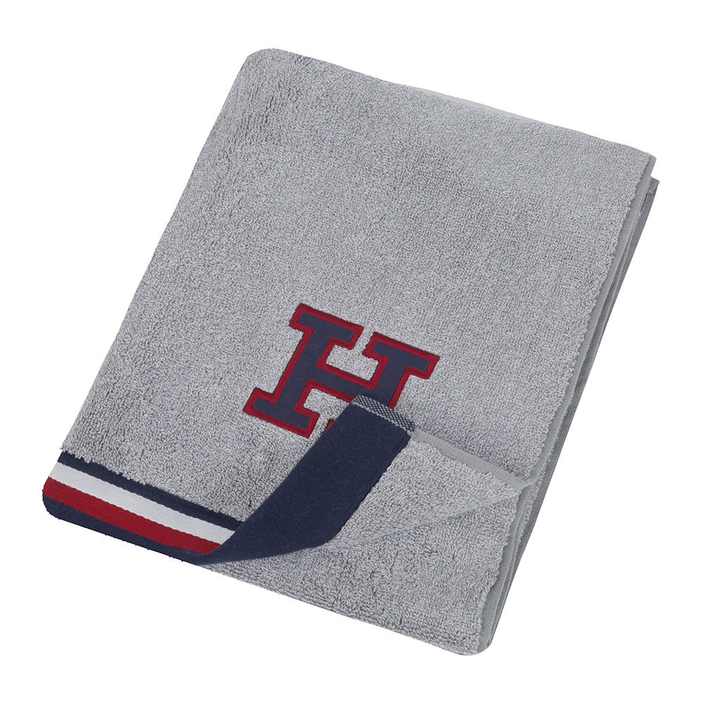 Tommy Hilfiger - Chine Towel - Grey - Bath Sheet