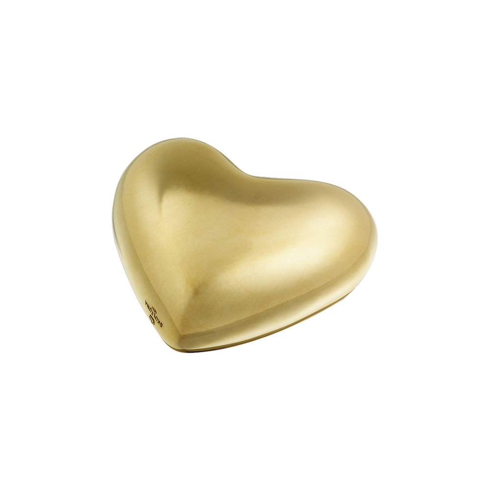 Skultuna - Heart Paperweight - Polished Brass - Medium