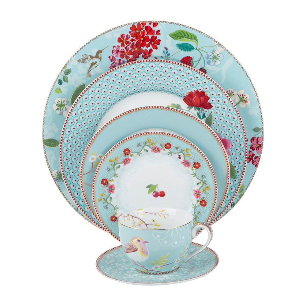 Pip Studio - Floral 2.0 Cherry Side Plate - Blue