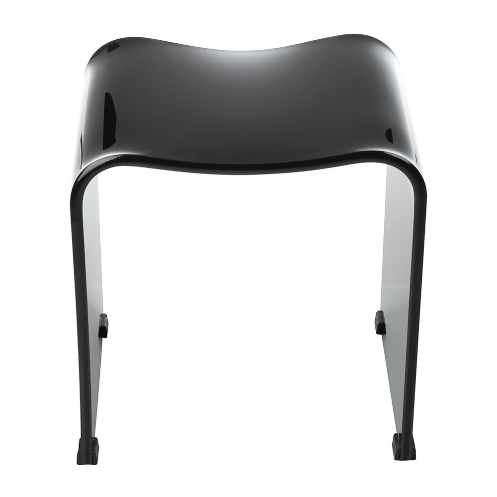 Decor Walther - DW 80 Bathroom Stool - Acrylic Black