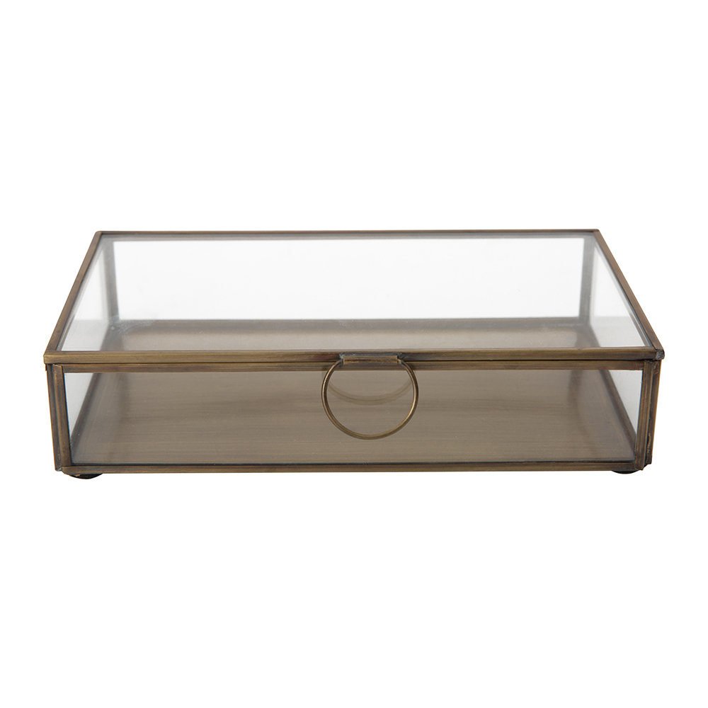 Broste Copenhagen - Janni Trinket Box - Brass/Glass - Rectangle