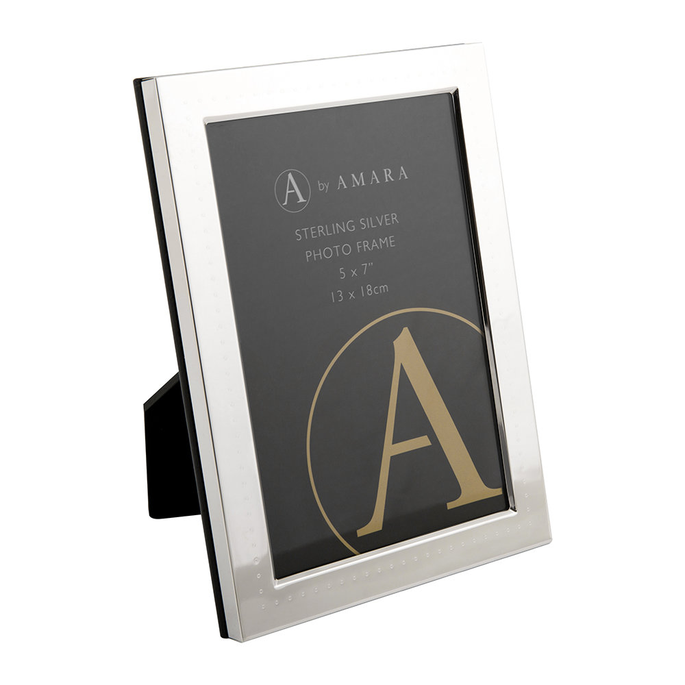 A by Amara A by Amara – Sterling Silver Dotted Photo Frame – 5×7″