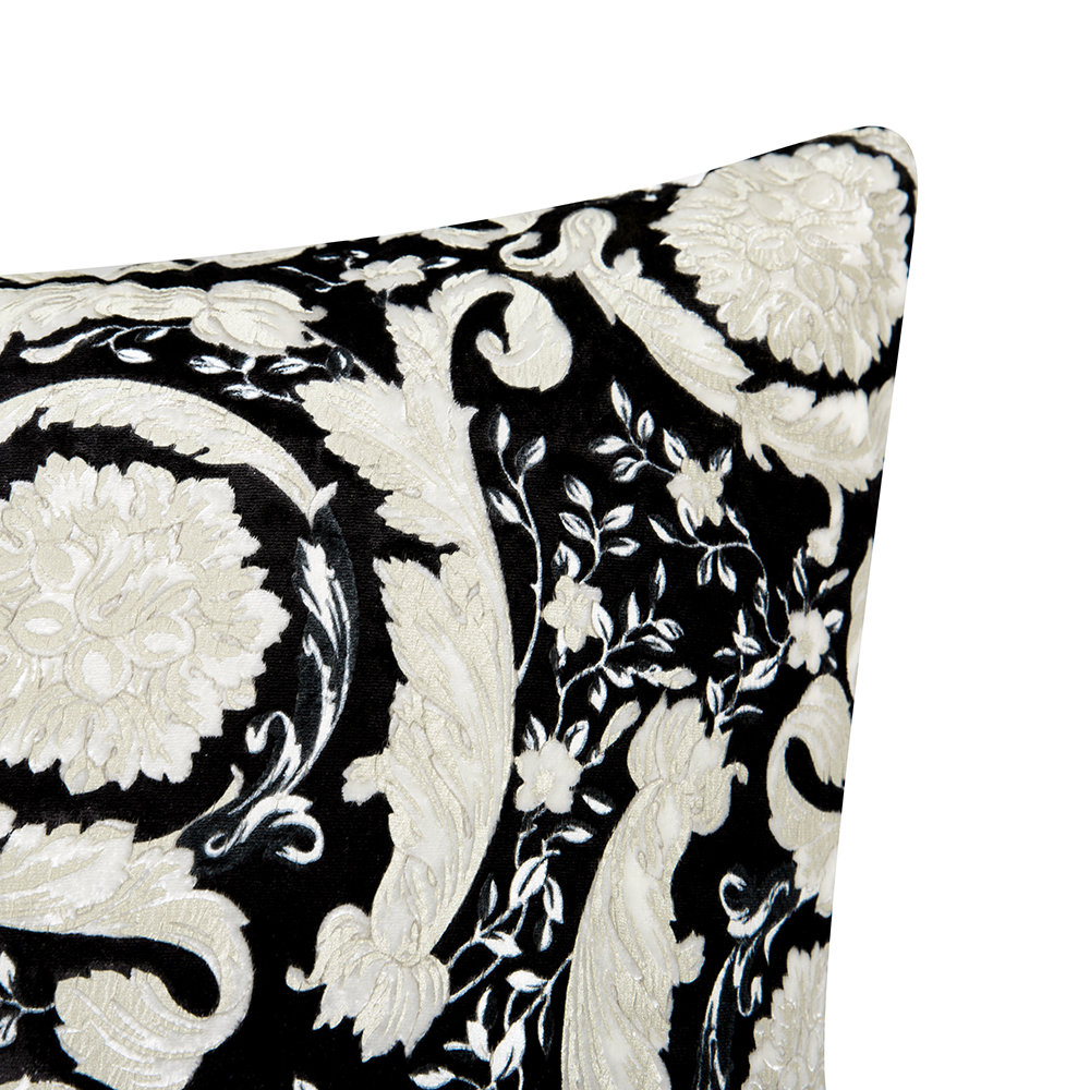 Versace Home - Bavelvet Pillow - 60x60cm - Black/White