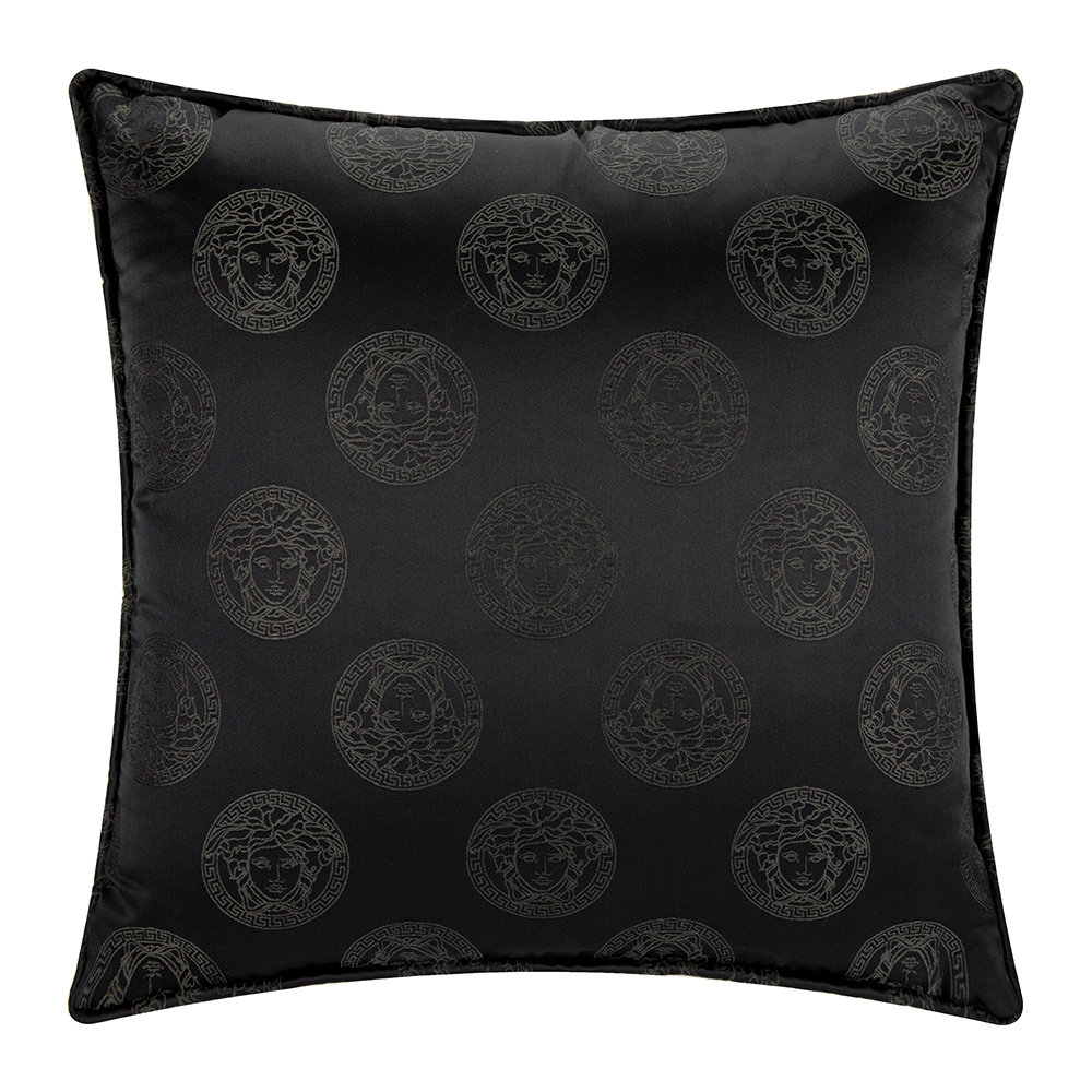 Versace Home - Medusa Royale Silk Pillow - 45x45cm - Black