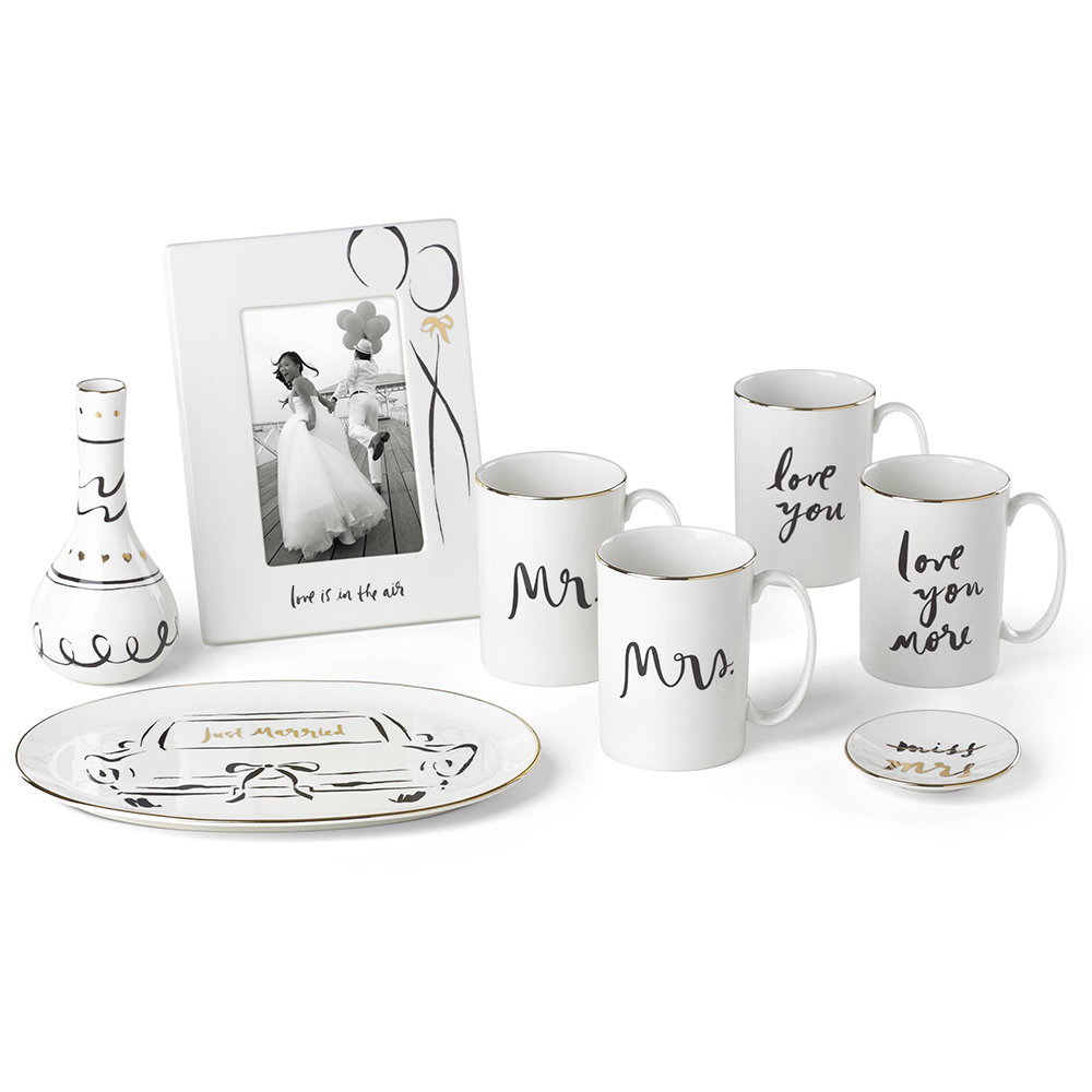 kate spade new york - Bridal Party Becher-Set - Love You / Love You More