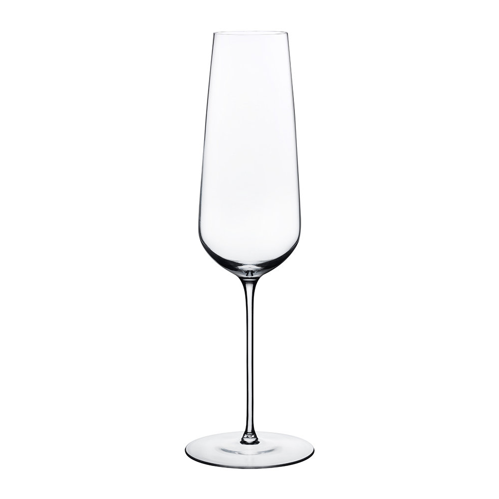 Buy nude stem zero champagne glass amara for Thin stem wine glasses