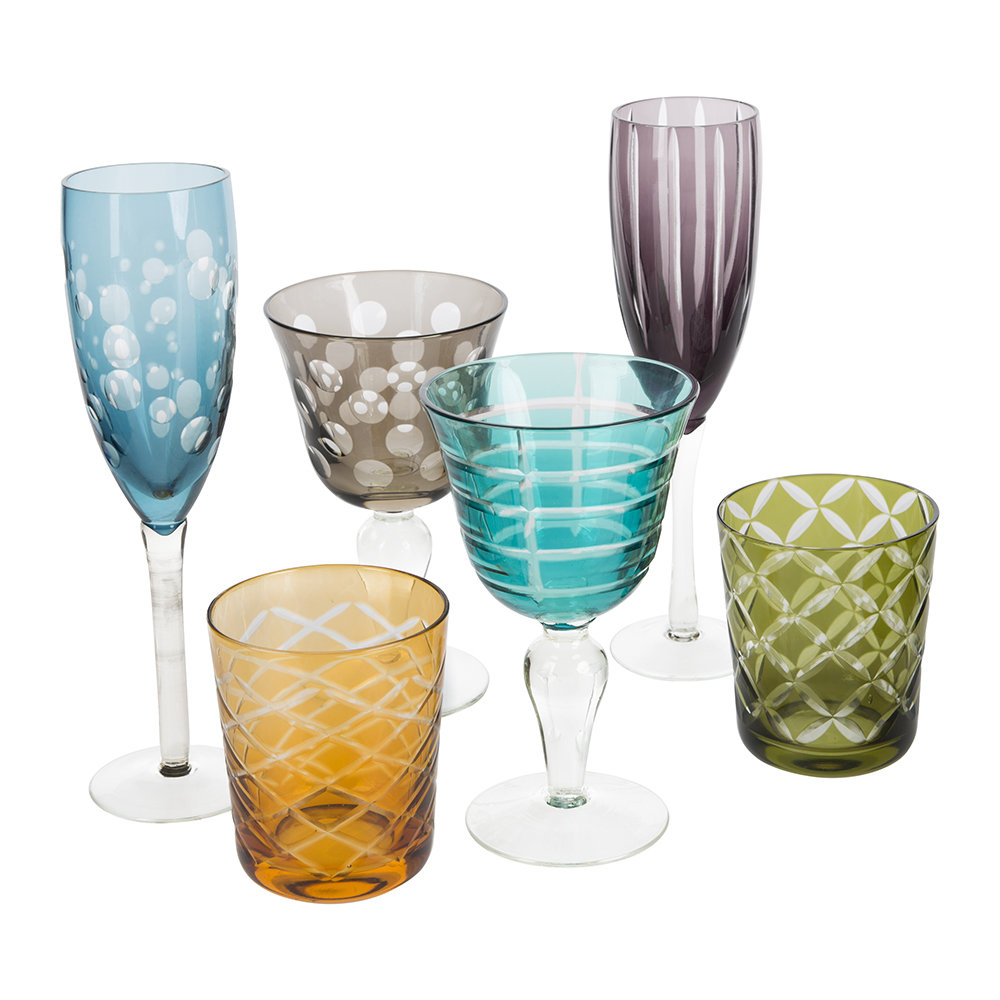 Pols Potten - Mixed Cuttings Champagne Glass - Set of 6