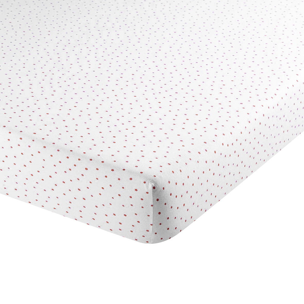 Christy  Speckle Fitted Sheet  Coral  Single