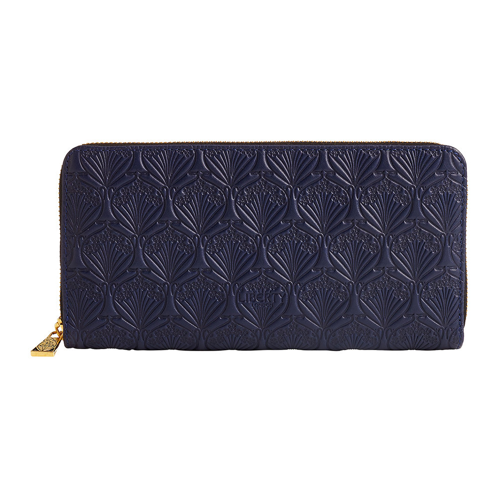 Liberty London Liberty London – Navy Embossed Wallet – Large