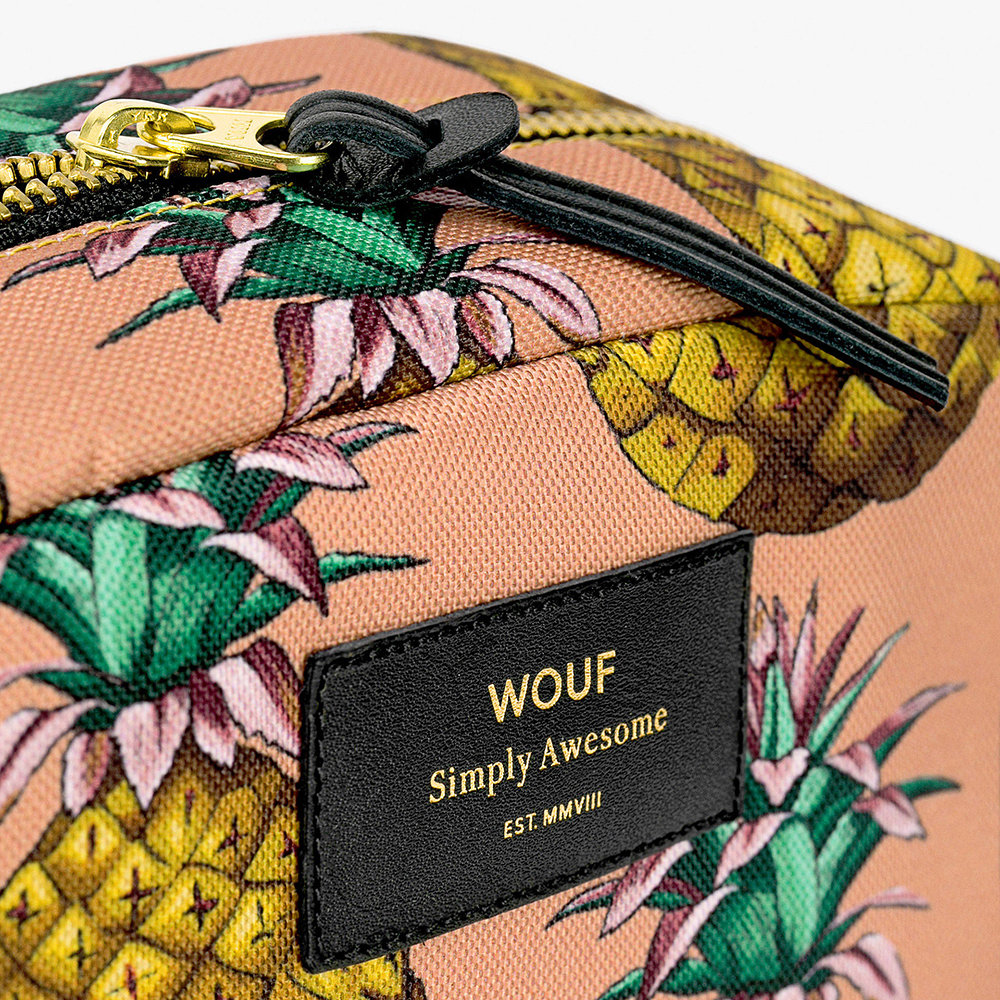 Wouf - Ananas Cosmetic Bag - Large