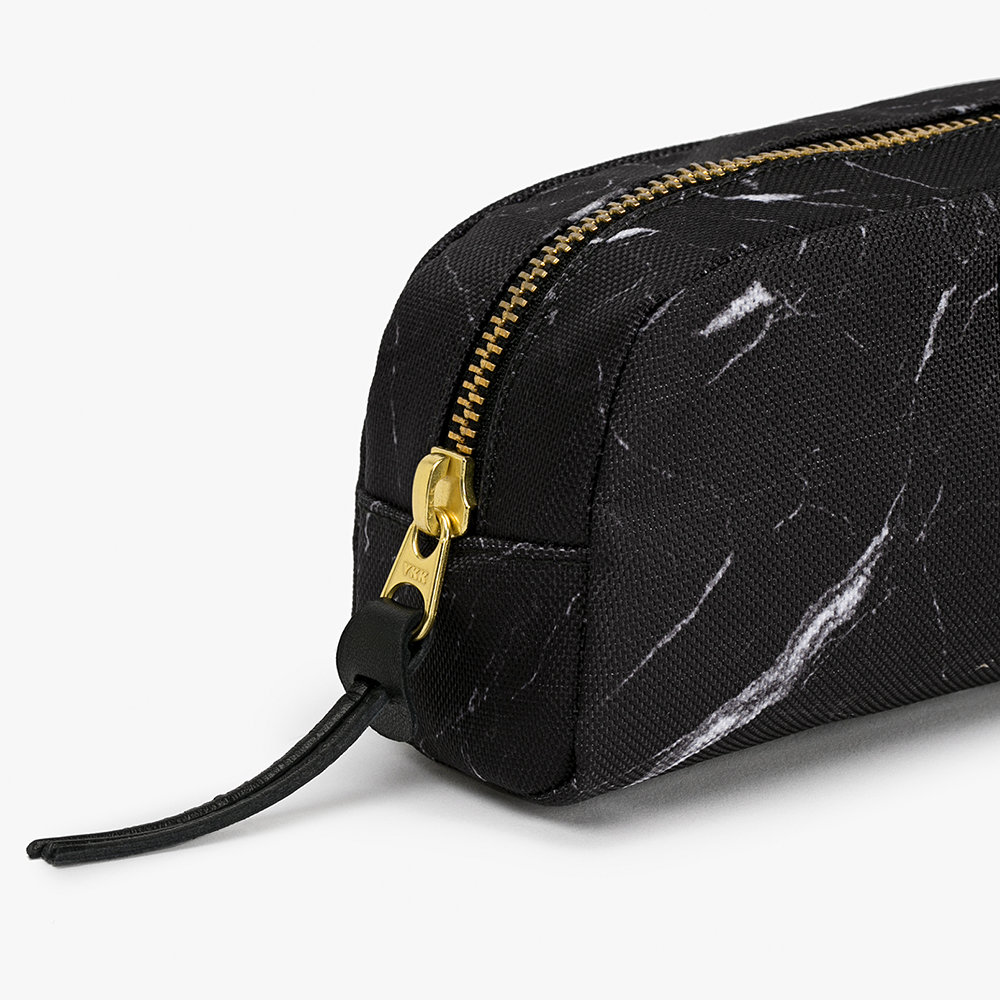 Wouf - Marble Cosmetic Bag - Black - Small