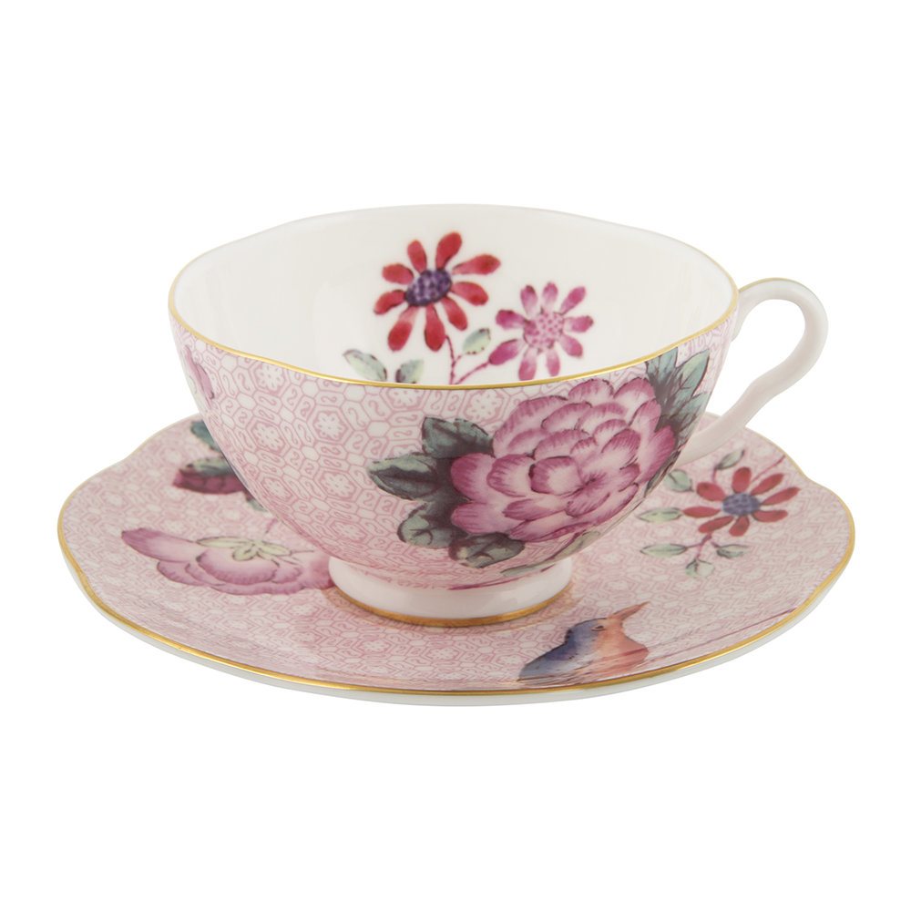 Wedgwood Baby Gifts Uk : Wedgwood cuckoo teacup and saucer pink octer ?