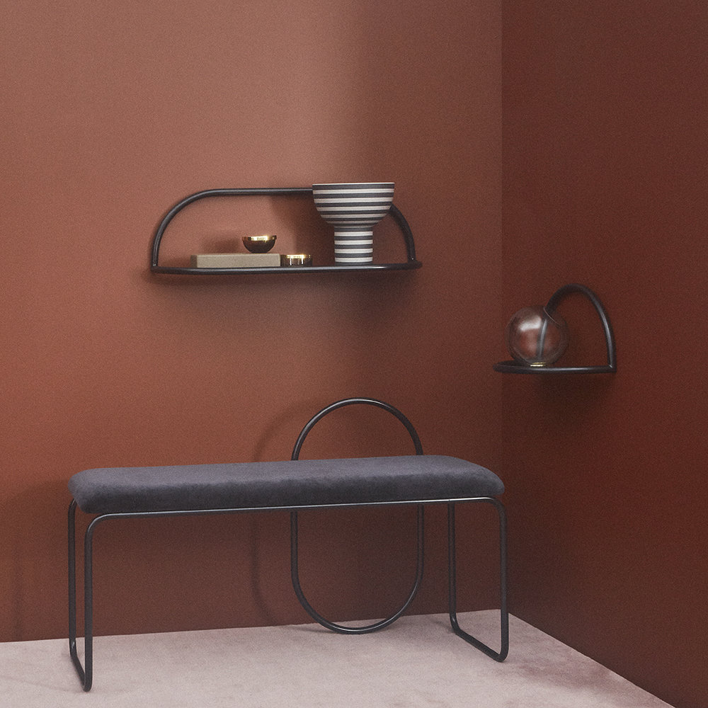 AYTM - Angui Iron Shelf - Rose - 39cm