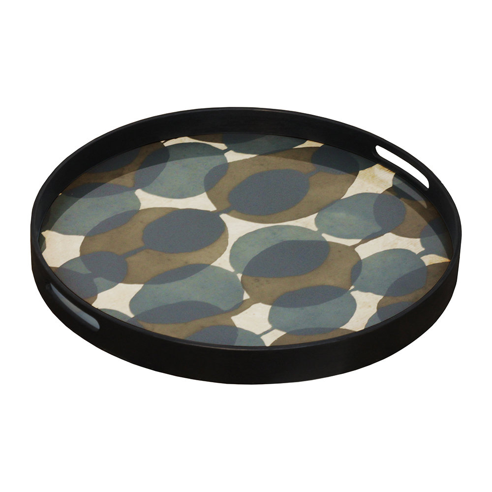 Notre Monde - Connected Dots Glass Tray - Round - Small