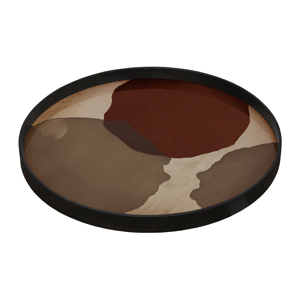 Ethnicraft - Overlapping Dots Glass Tray - Round - Large