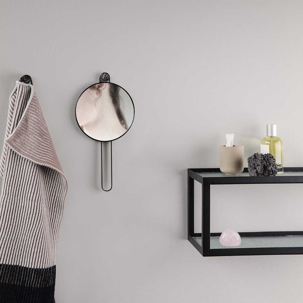 Buy Ferm Living Glass Haze Shelf With Metal Frame - Black | Amara
