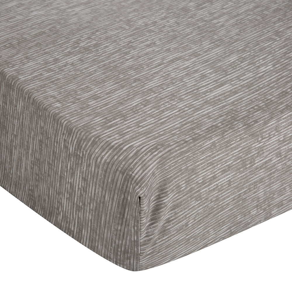 Calvin Klein - Acacia Grey Textured Fitted Sheet - Super King