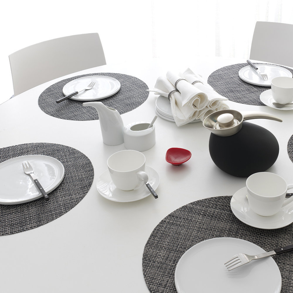 Chilewich - Set de Table Rond Basketweave - Carbone