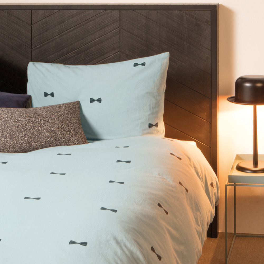Snurk Snurk – Bow Tie Duvet Set – Blue – Single