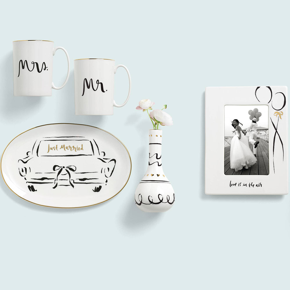 kate spade new york - Bridal Party Oblong Dish - Just Married
