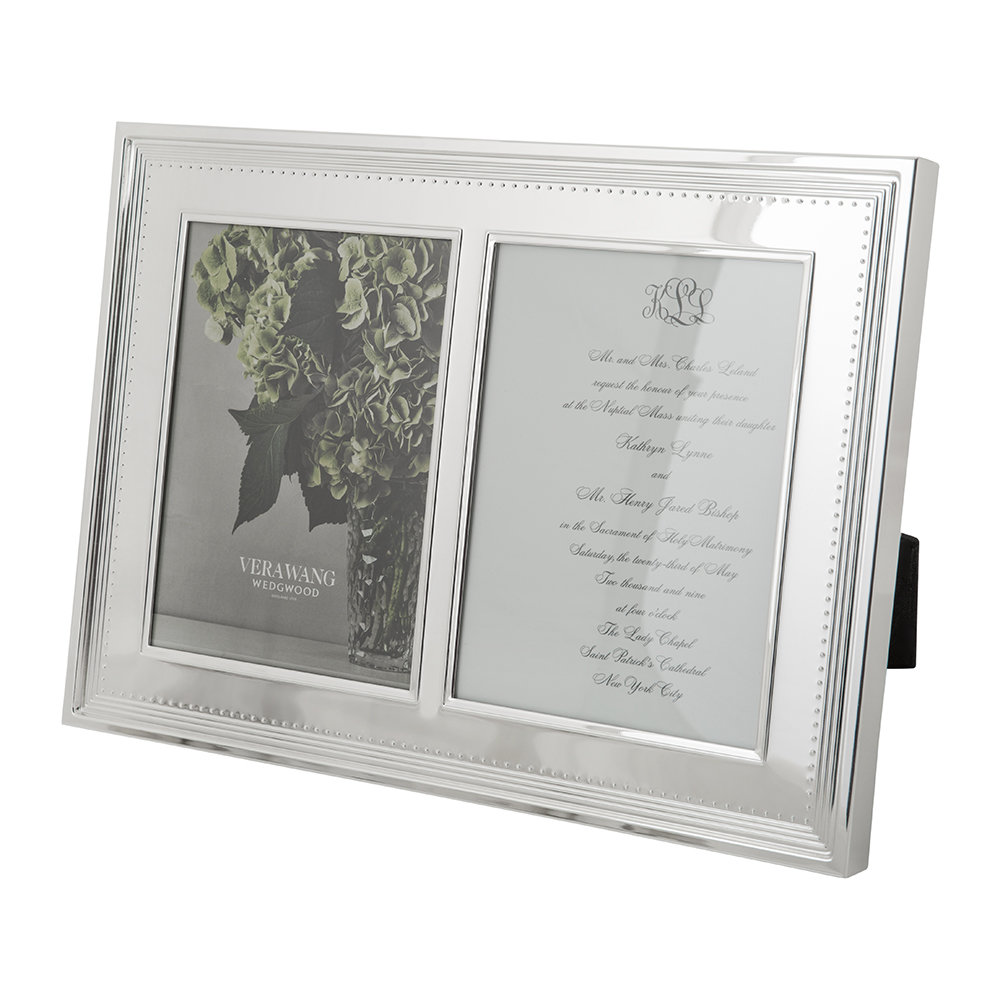 Buy Vera Wang for Wedgwood Grosgrain Double Invitation Frame - 5x7 ...