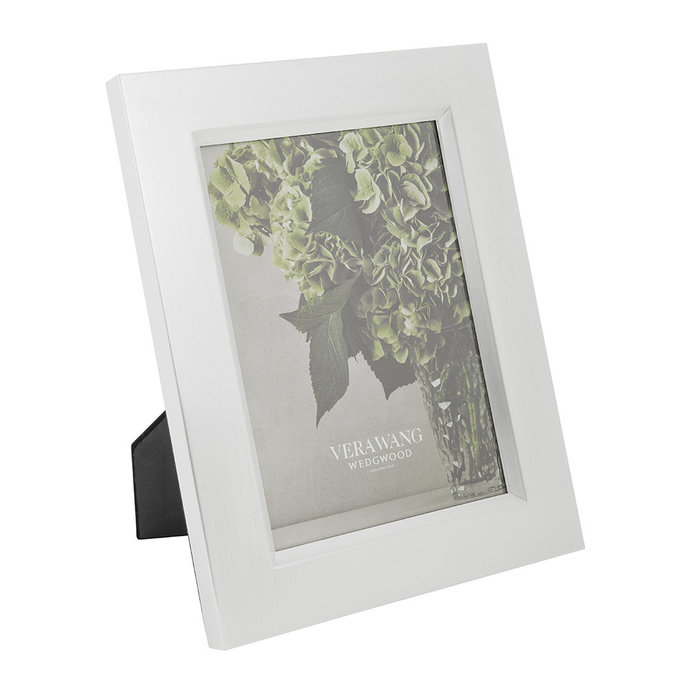 Buy Vera Wang for Wedgwood Grosgrain Silver Photo Frame | Amara