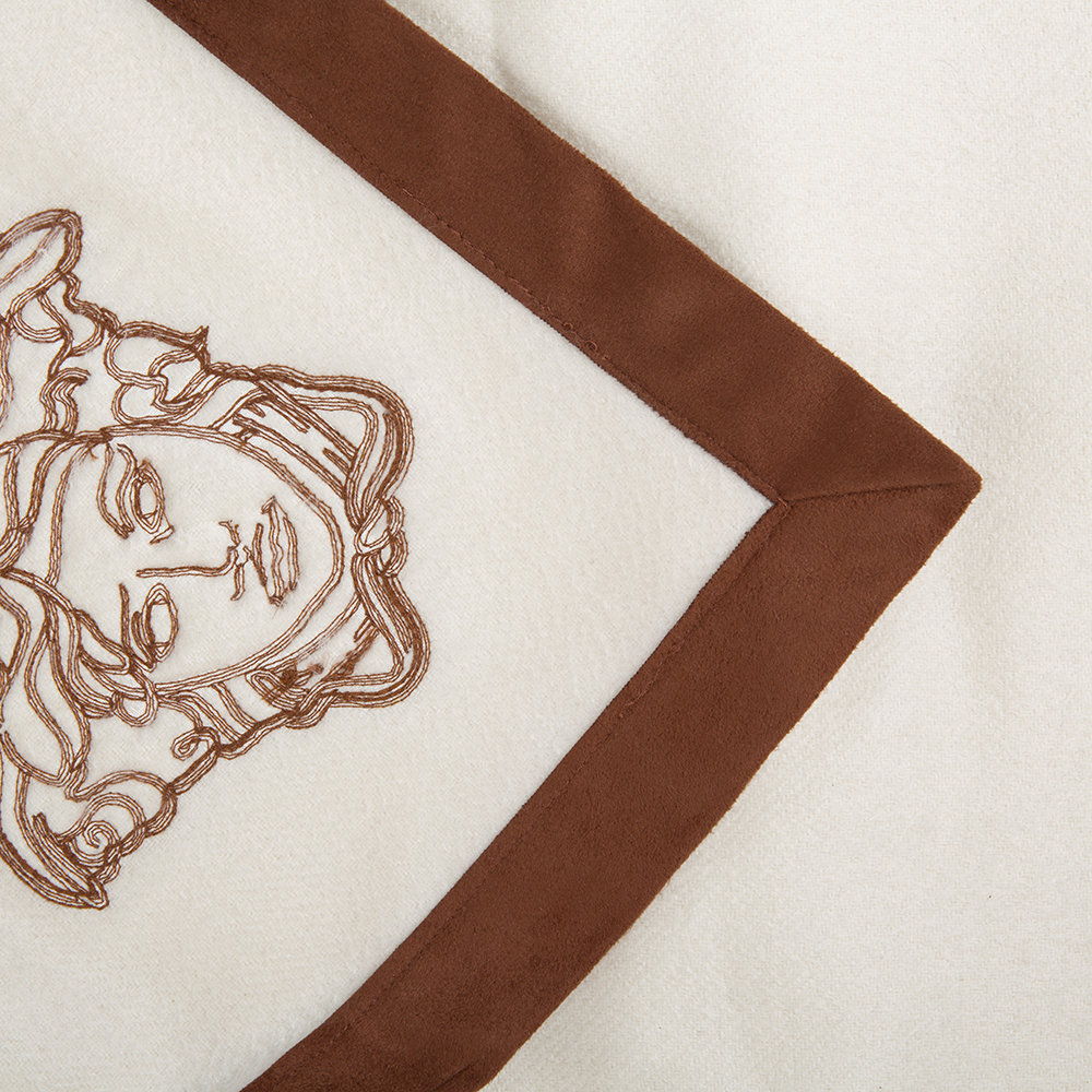 Versace Home - Medusa Stable Cashmere Throw - 130x180cm - Ivory/Brown