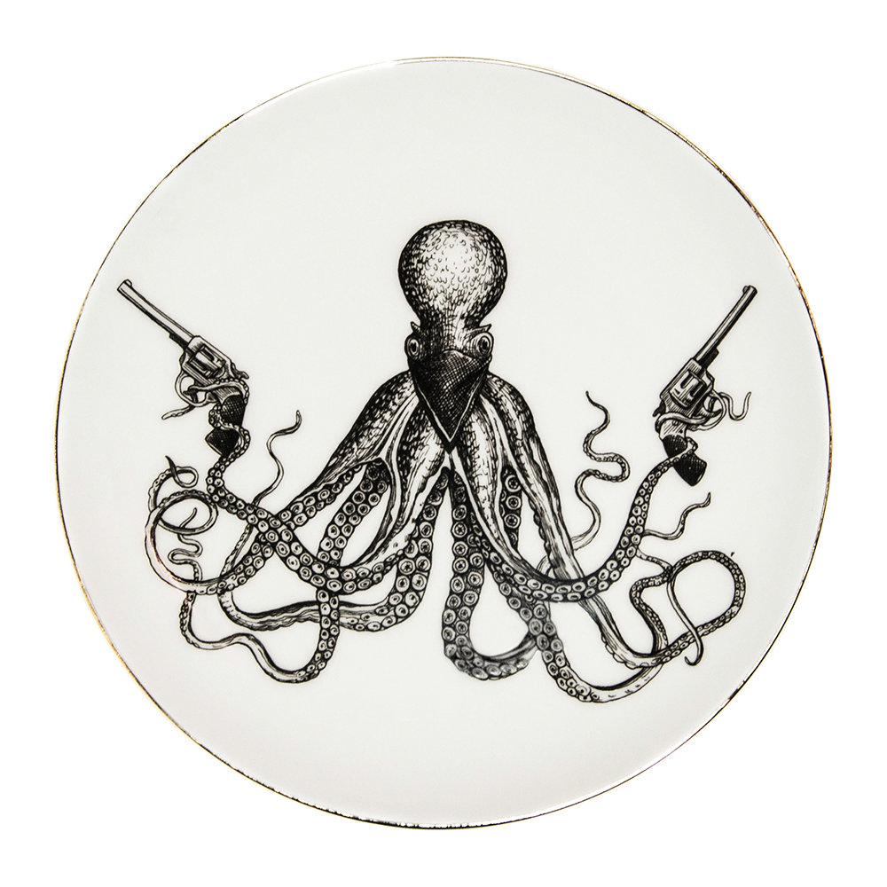 Rory Dobner - Perfect Plates - Omar The Outlaw Octopus - Large