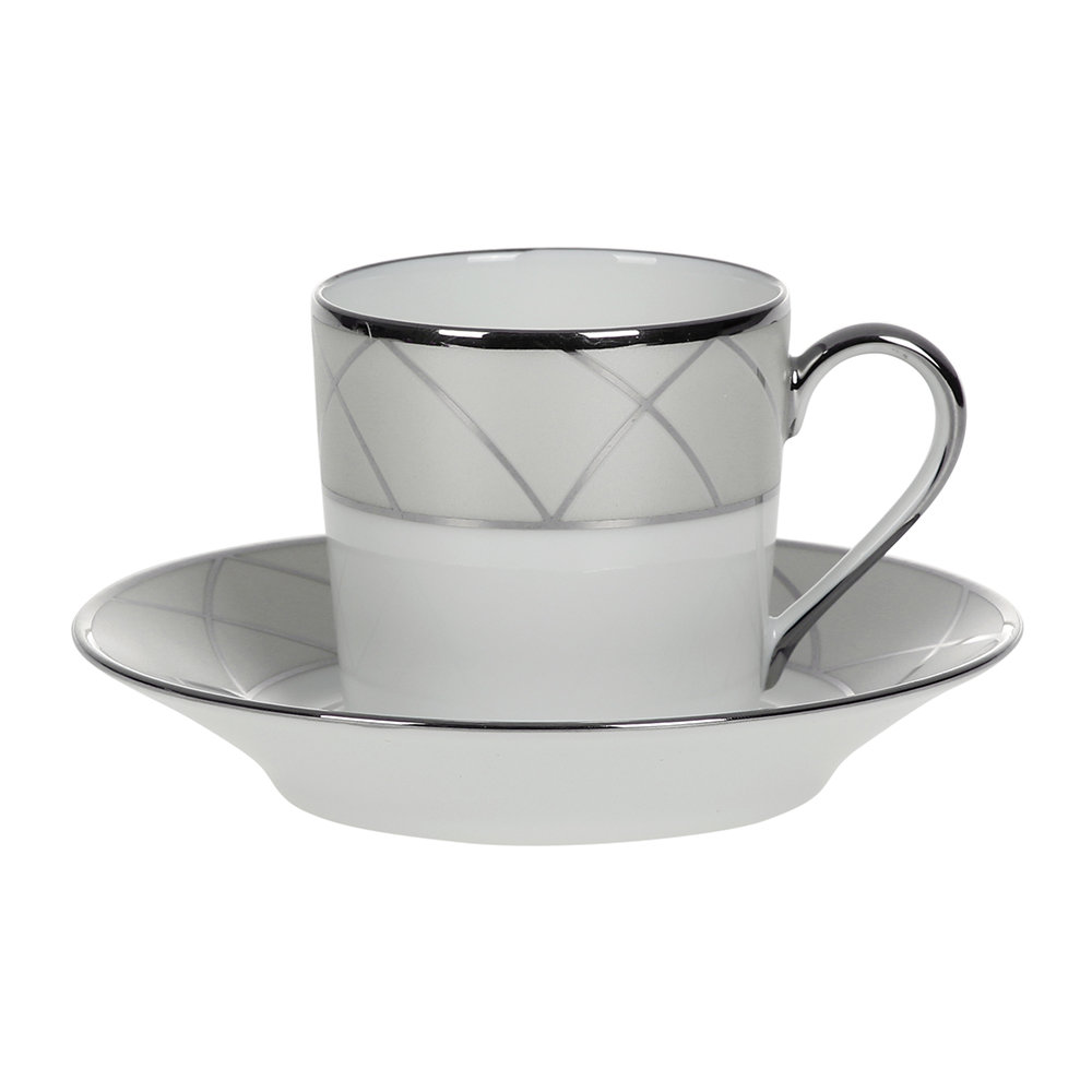 Haviland  Clair De Lune Arcades Coffee Cup  Saucer