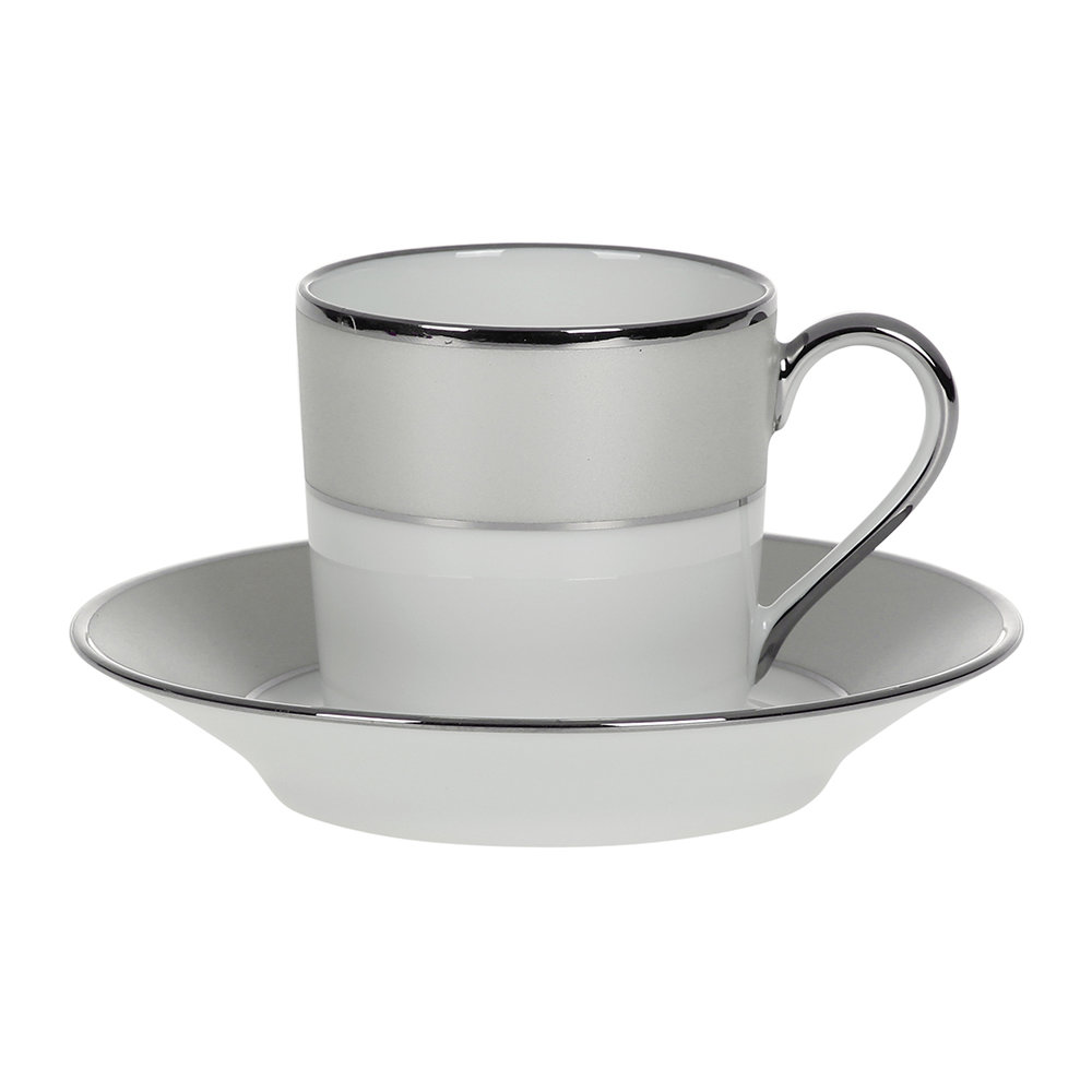 Haviland  Clair De Lune Uni Coffee Cup  Saucer