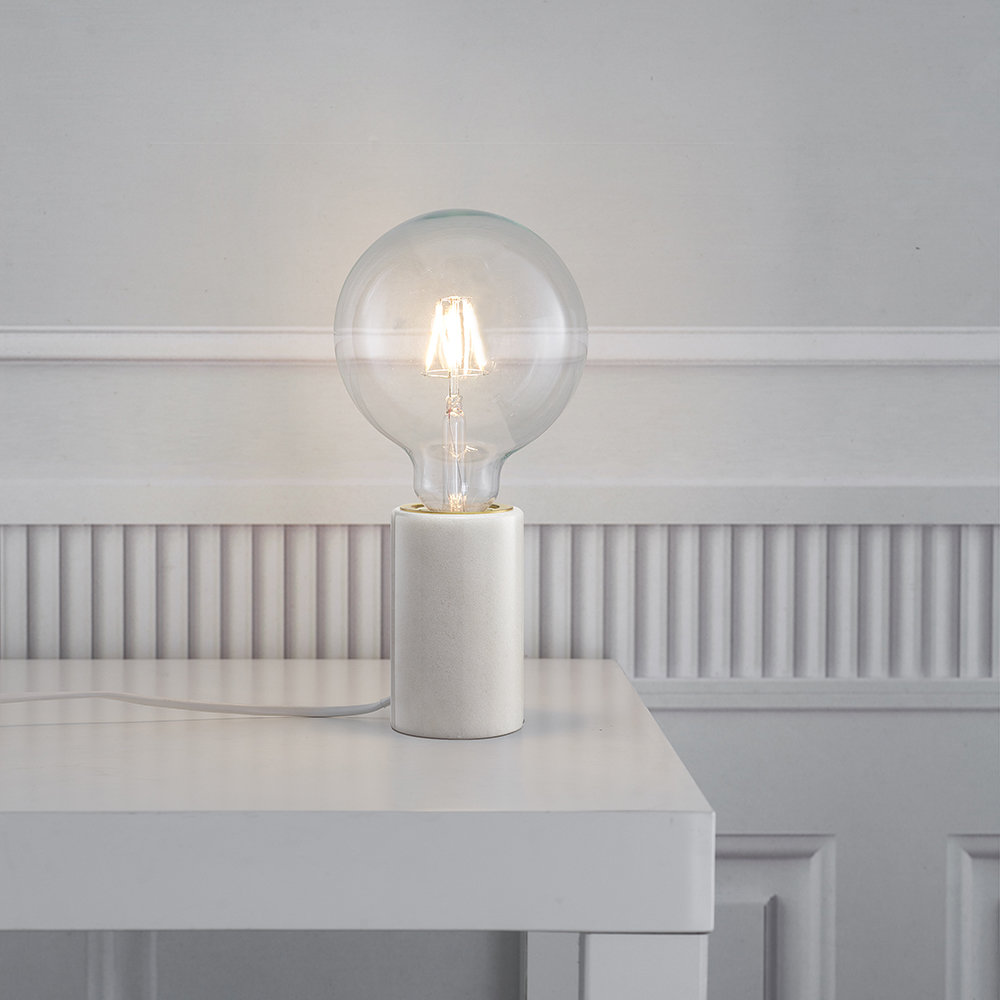 A by Amara - Siv E27 Table Lamp - Small - White