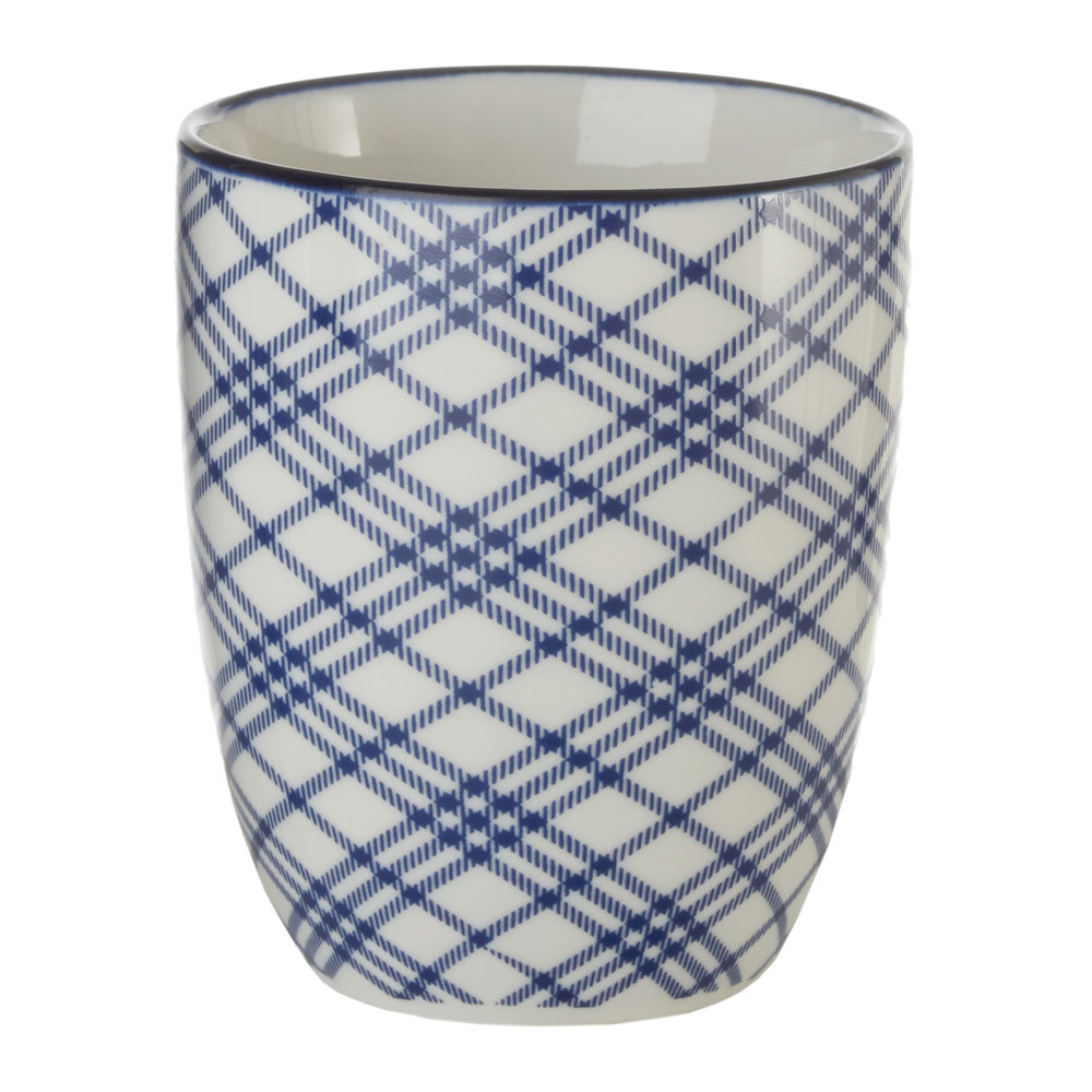 Pols Potten - Assorted Check & Stripe Cups - Set of 4