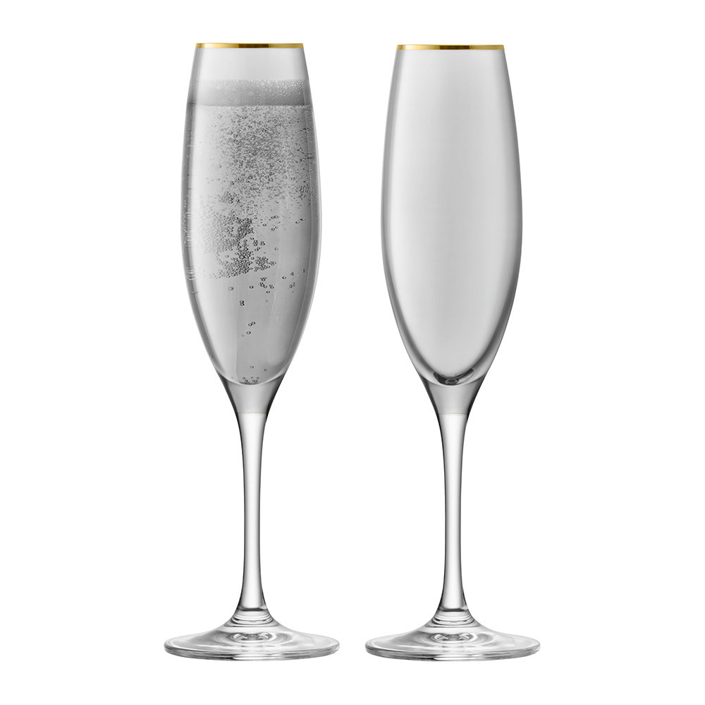 LSA International - Sorbet Champagne Flute - Set of 2 - Liquorice