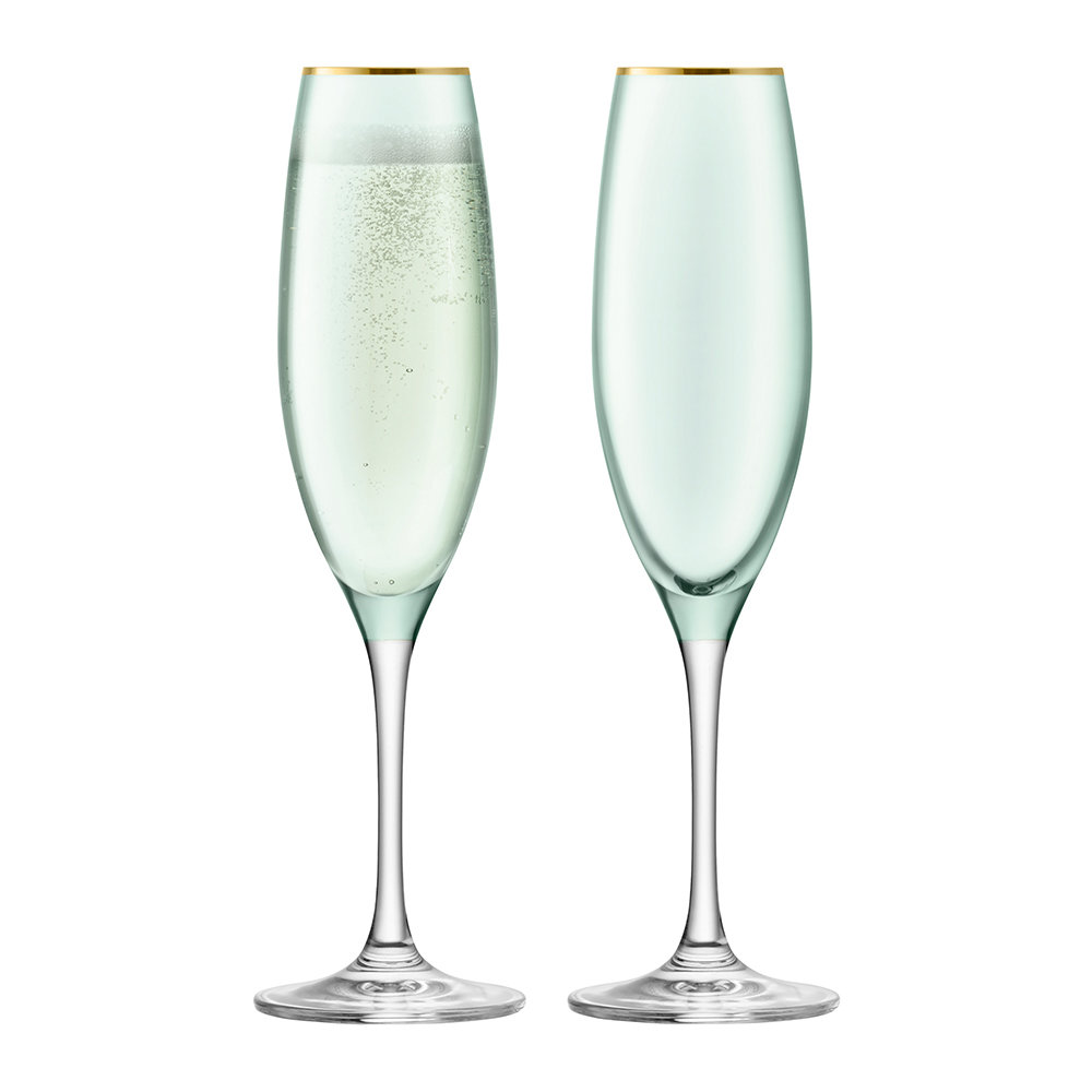 LSA International - Sorbet Champagne Flute - Set of 2 - Melon